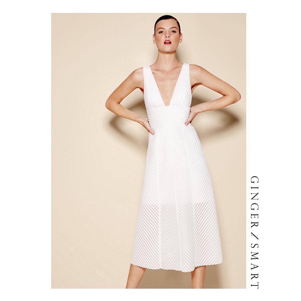 White dress david jones - Looking Forward To The Aria Awards Tonight With David Jones Montana Cox Is White Hot