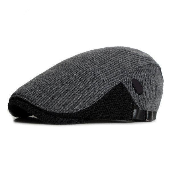 d0ddf9f2faf Men Knitted Beret Cap Adjustable in 2019