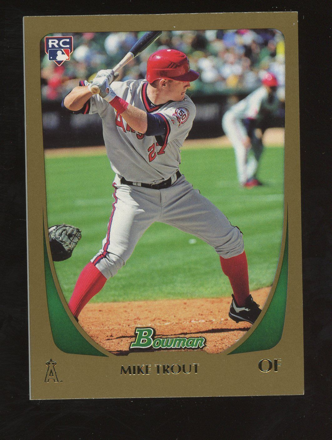 2011 bowman gold 101 mike trout angels rc rookie mike