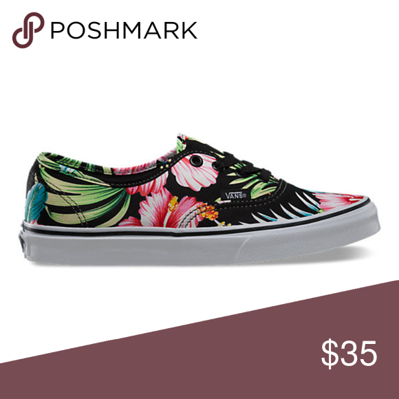 464d8cb552 Canvas upper Floral print Low-cut design Lace-up front Rubber outsole Shoes  Sneakers