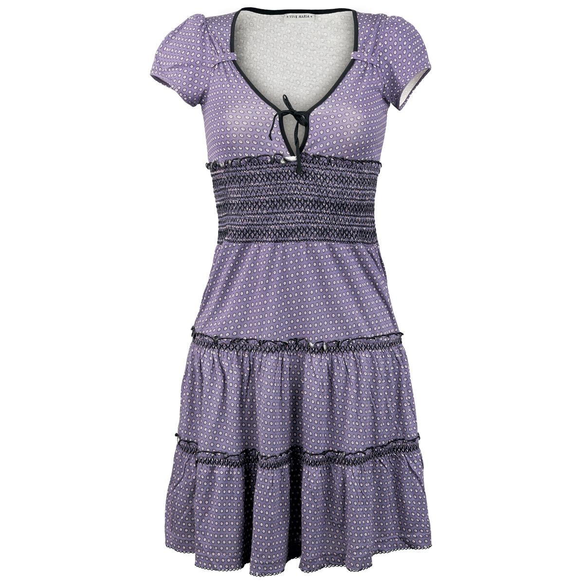 Dress with smocked waist accentuation and accentuated chest. L: approx. 94 cm