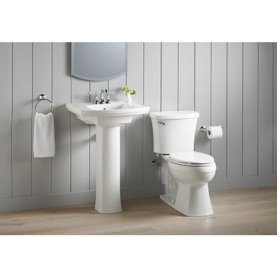 Ordinaire Shop KOHLER Elliston 19.87 In L X 23.75 In W White Vitreous China  Rectangular Pedestal Sink Top At Lowes.com