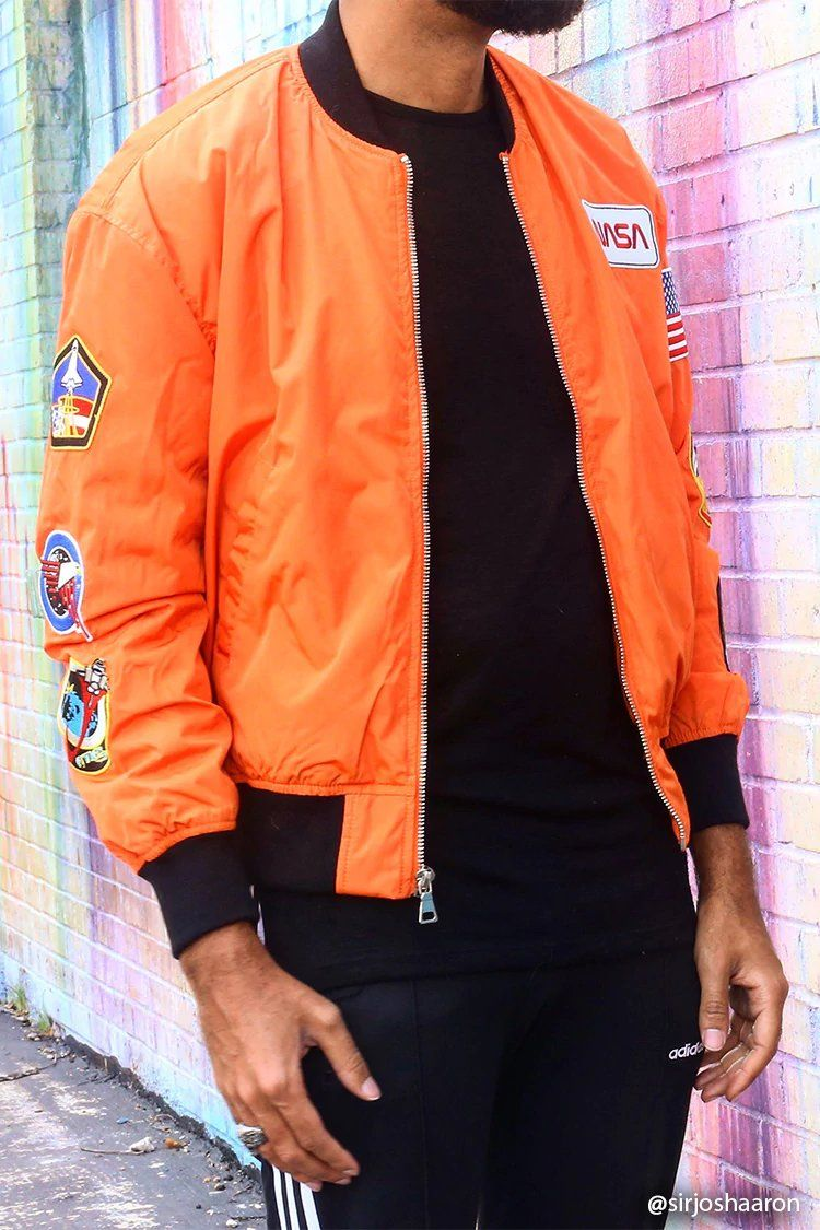 2701d4625e0f54 NASA Patched Bomber Jacket | Forever21 | forever 21 | f21xme in 2019 ...