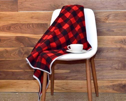 Cabin Blanket In Soft Usa Wool Rustic Home Decor Throw Blanket Red And Black Buffalo Check Rustic Cabin Decor Modern Furniture Stores House Home Magazine