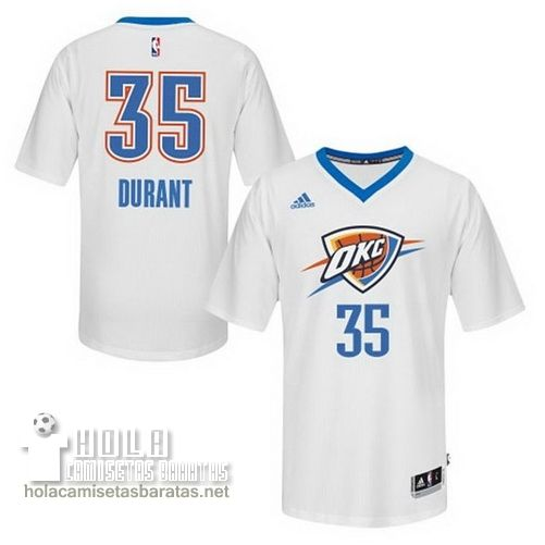 a52c7bad8ea3 Camisetas Nba Baratas 2015 Mangas Swingman Durant  35 Blanco Oklahoma City  Thunder €23.9