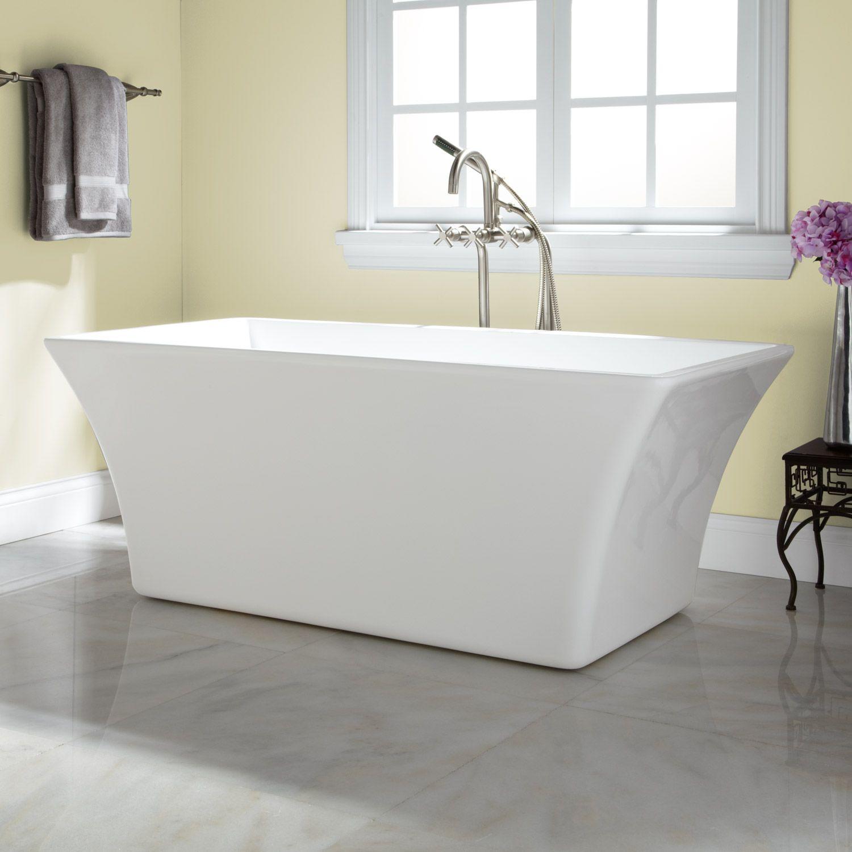 Draque Acrylic Freestanding Tub | Acrylic tub, Tubs and Bath