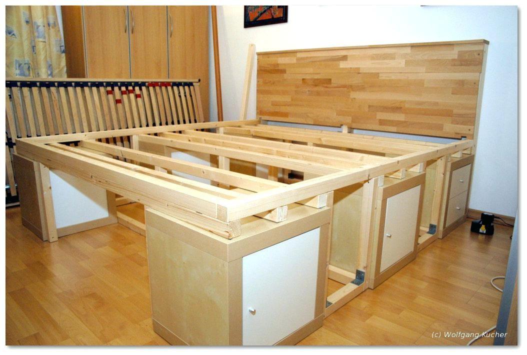 Bett 140x200 Mit Stauraum Single For Bett 140x200 Mit Stauraum Selber Bauen Diy Bed Diy Storage Bed Bed Storage