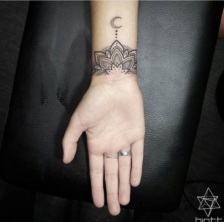 Pin By Joy Gabriel On Tattoos Cuff Tattoo Mandala Wrist Tattoo Star Tattoo On Wrist