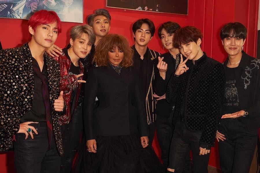 Bts And Janet Jackson Meet Backstage At 2018 Mama In Hong Kong Janet Jackson Mnet Asian Music Awards Bangtan