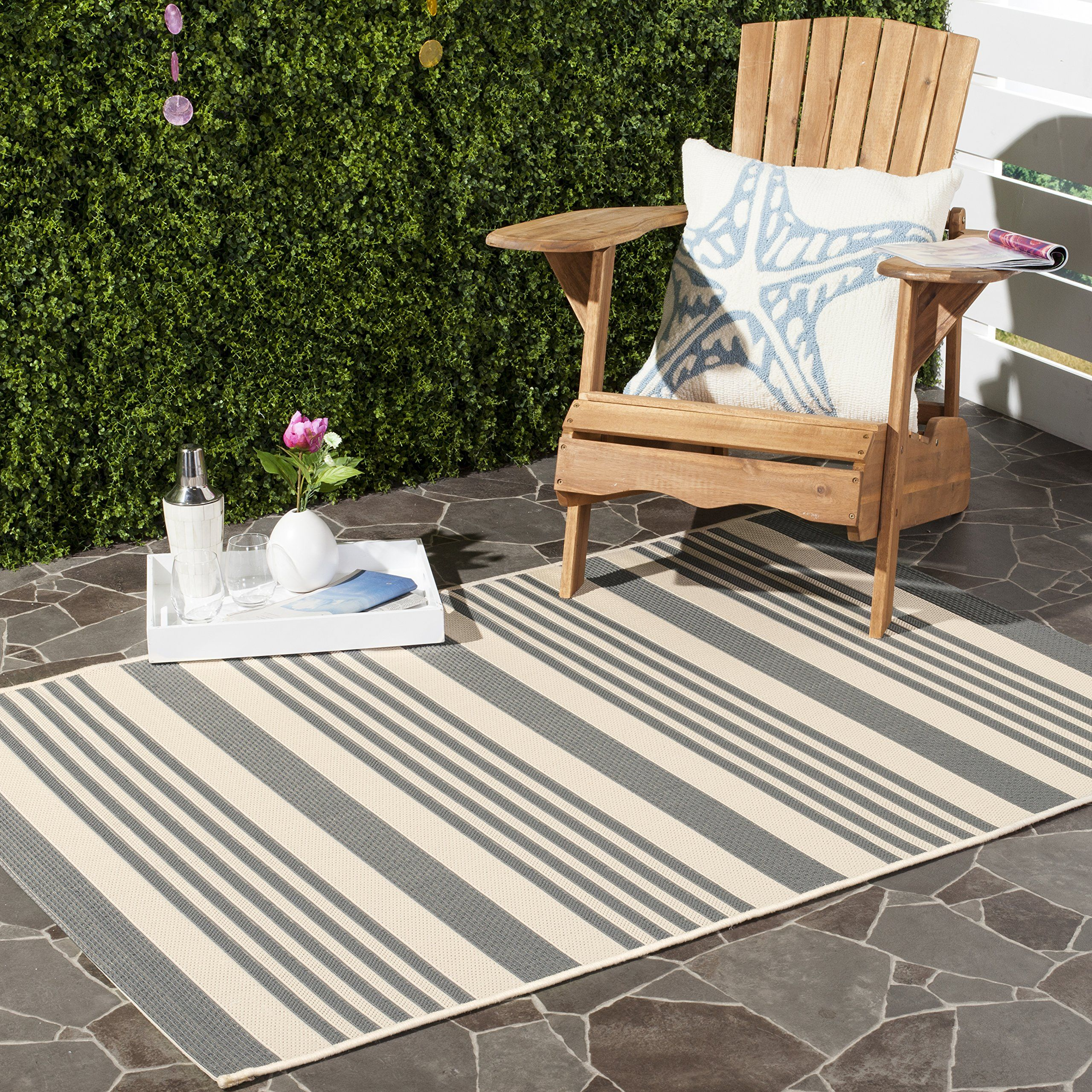 Safavieh Courtyard Collection Cy6062 236 Grey And Bone Indoor