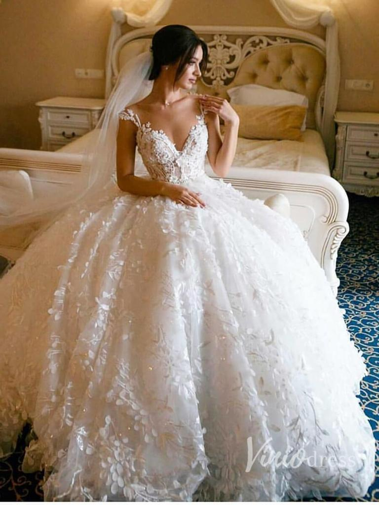 Vintage Princess Wedding Dresses A Line Lace Applique Modest Wedding Dresses Awd1055 Wedding Dresses Vintage Princess Princess Wedding Dresses Milla Nova Wedding Dresses [ 1600 x 757 Pixel ]