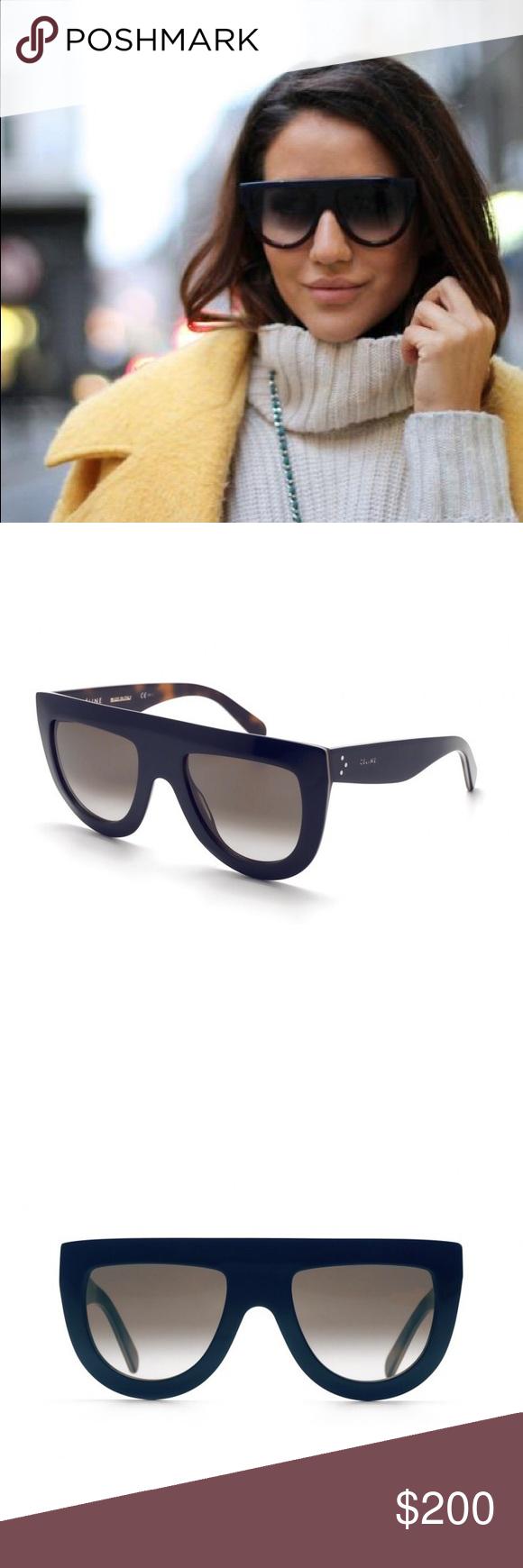 03f6115941 NEW    Céline Andrea Flat Top Sunglasses Authentic Céline CL 41398 S 273 Z3