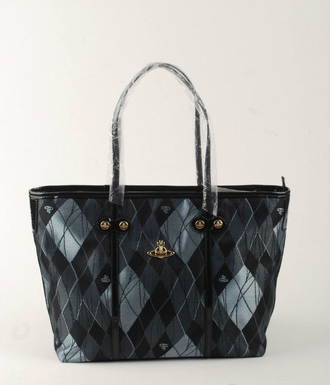 Shopping Vivienne Westwood Derby Orb Tote Bags Black/Gray £94.25,52% off