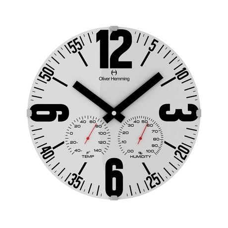 12 Domed Glass Weather Station Wall Clock W300dg65wf Clock Wall Clock Weather Station