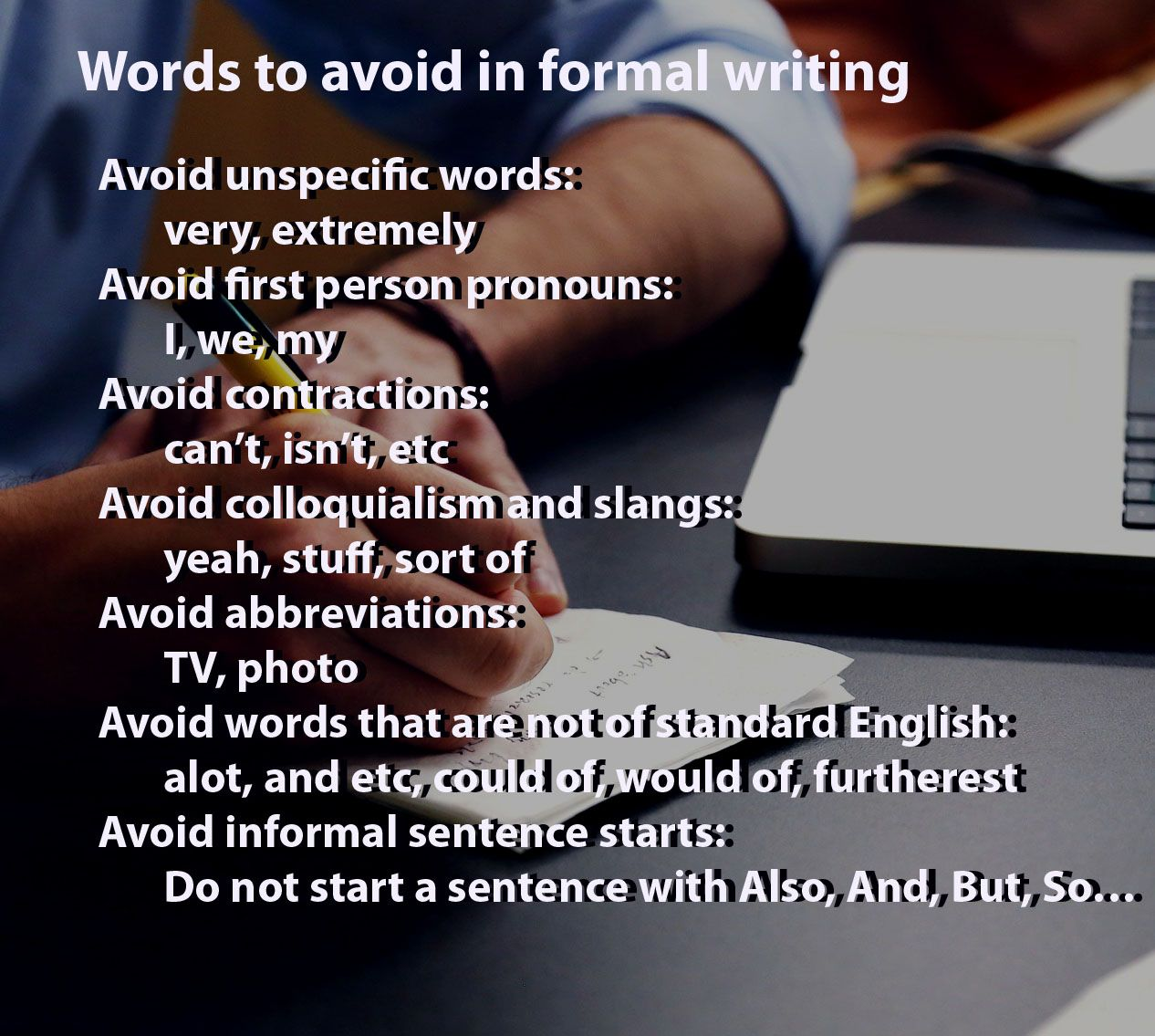 Avoid these words to be a successful writer