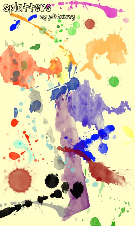 Splatter Brushes By Jetbunny Deviantart Com On Deviantart