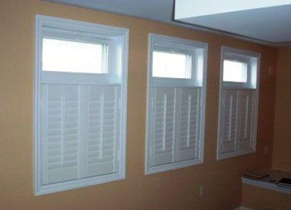 House basement ideas on pinterest basement windows for Basement window treatment ideas