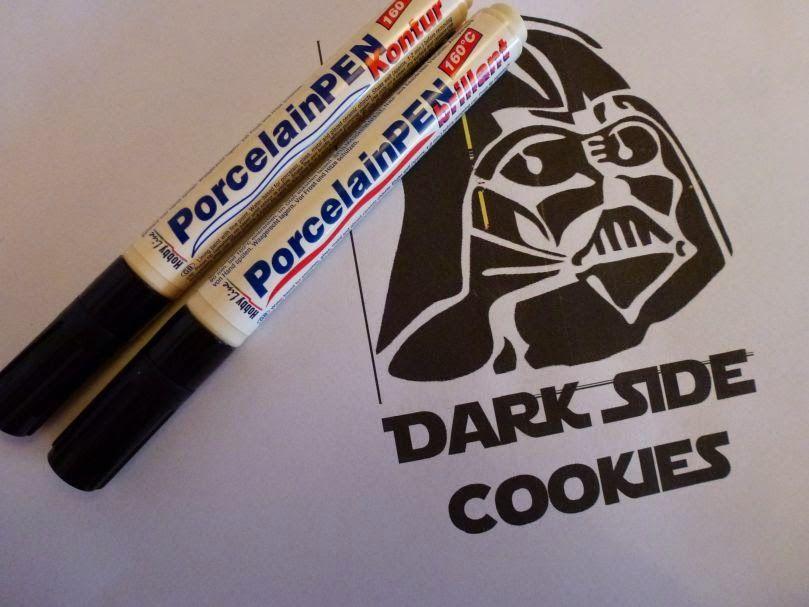 Ani's Villa Kunterbunt: Come to the Dark Side, we have Cookies: Star Wars Keksglas mit Darth Vader Motiv