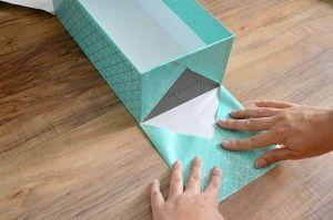 recycler boites chaussures et les recouvrir de papiers diy diy pinterest papier diy. Black Bedroom Furniture Sets. Home Design Ideas