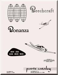 beechcraft bonanza h35 j35 k35 m35 n35 aircraft parts catalog manual rh pinterest com