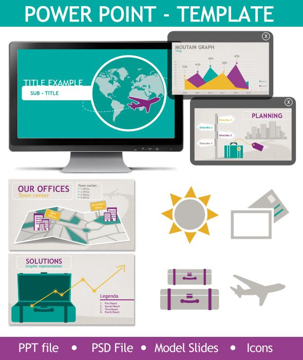powerpoint presentation template travel fresh and innovative