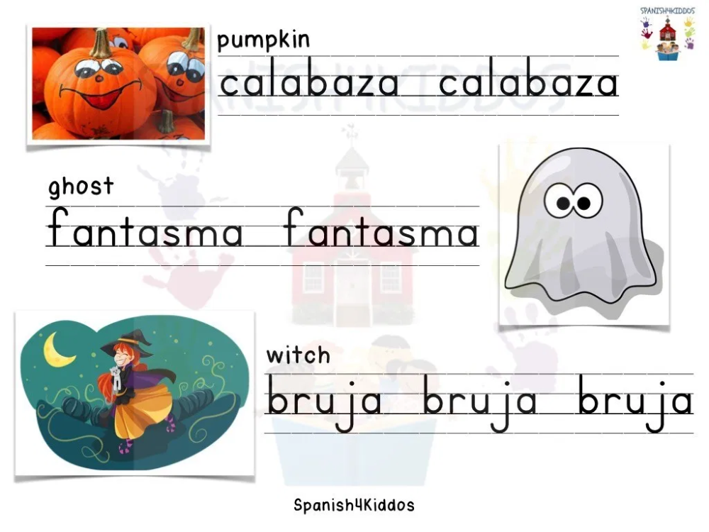 Spanish Halloween Vocabulary for Early Readers Halloween