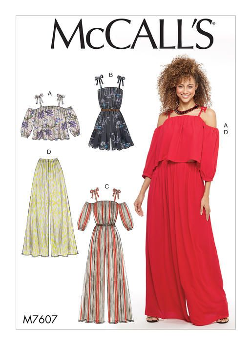 2661dc5dd9a8 ... 14 16 18 20 22. McCall s sewing pattern M7607  Misses  Off-the-Shoulder  Top