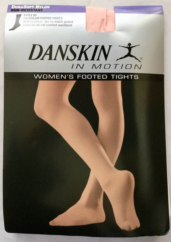 b24660b35300f Danskin # 85 Backseam Seamed Footed Dance Tights Size A Theatrical Pink # Danskin