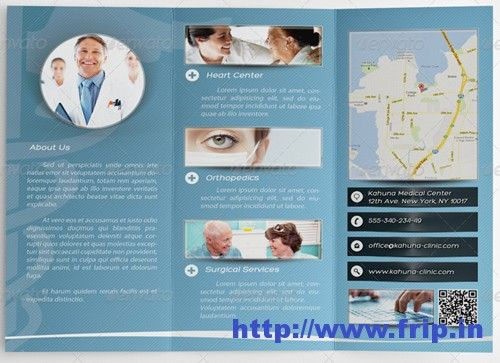Are you running a medical health,center, hospital, clinic etc..?? Then, these Medical Brochure Design Print Templates will help you to promote your clinics, medical health center etc.. in an innovative way. These Medical Brochure templates are the best to showcase your hospital services, buildings, specialist list etc.Check out this post to choose your favorite brochure from our list. http://www.frip.in/medical-brochure-design-print-templates/