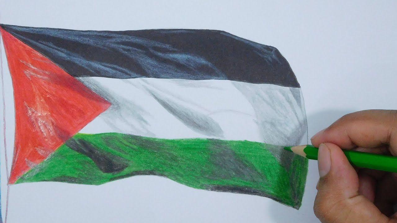 Drawing Palestine Flag Menggambar Bendera Palestina Sketches