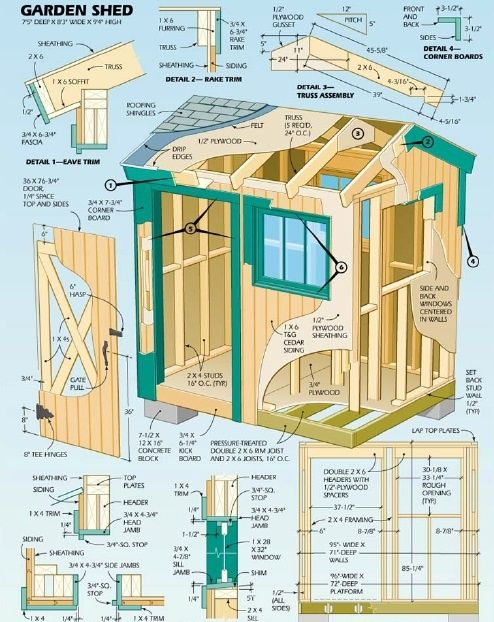 (link) DIY Garden Shed Plans – How to Build ~~ You can build your own storage sheds without spending money on garden shed plans. There are various styles that you can choose from. It depends on the available area as well its use. Most often it is used to store outdoor tools such as rakes, potting trowels, and the lawnmower.