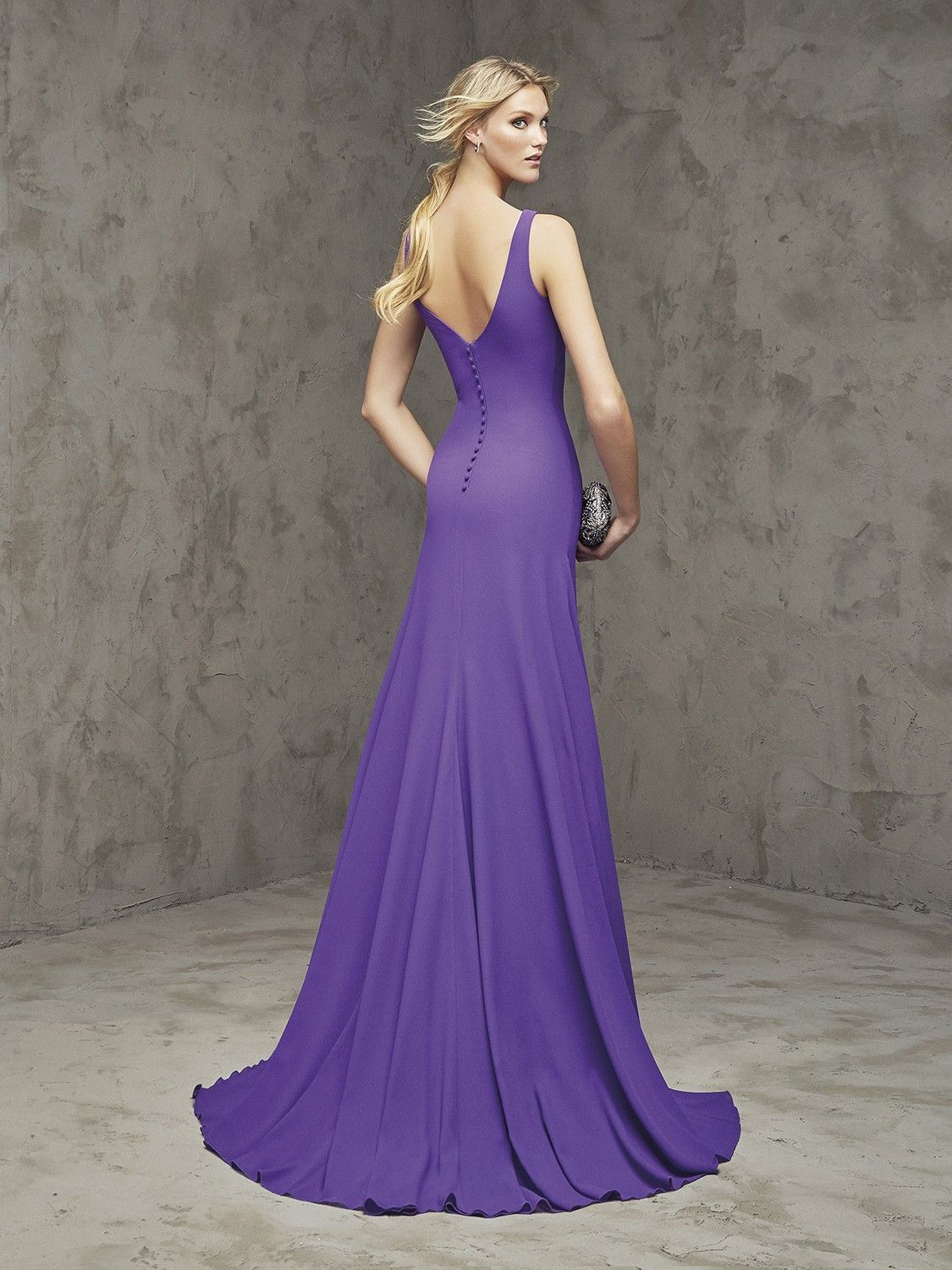 Vestido largo color lila de fiesta | Gala | Pinterest | Color lila ...