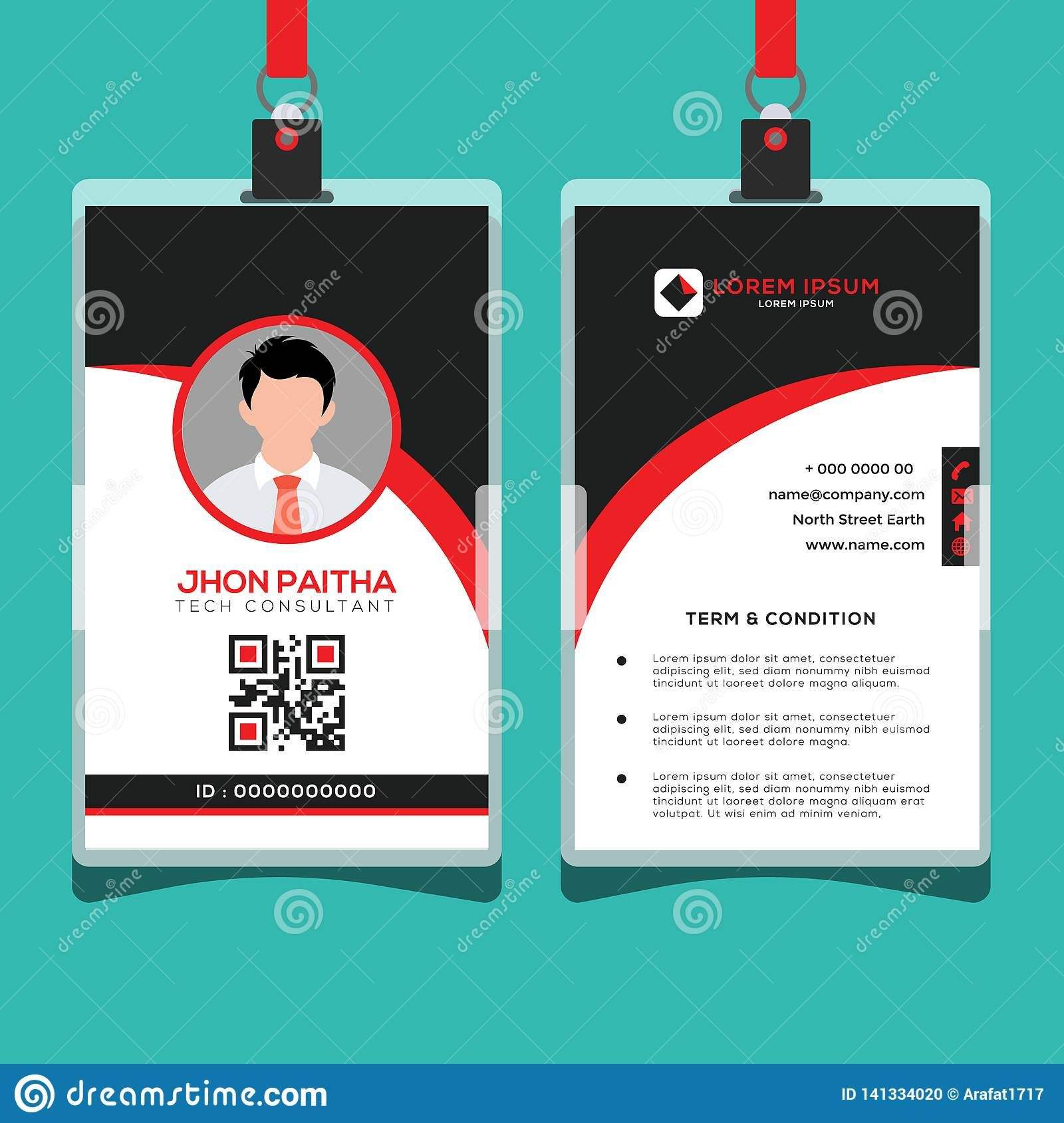 Corporate Id Card Design Template Stock Vector With Regard To Company Id Card Design Template Profess Corporate Id Create Business Cards Identity Card Design