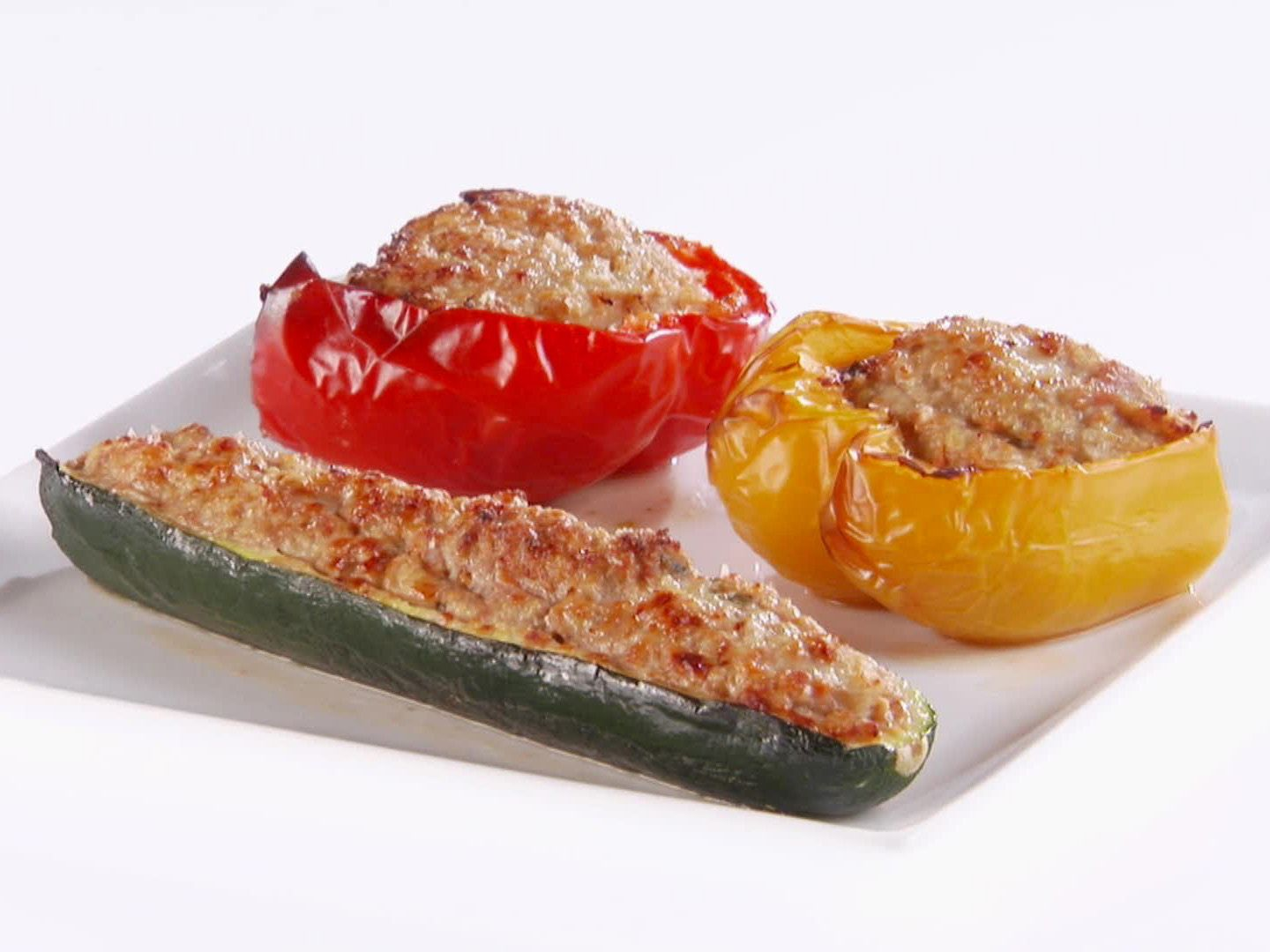 Turkey Stuffed Vegetables Recipe Stuffed Peppers Food Network Recipes Recipes