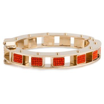 Check out this item at One Kings Lane! Pave Mini Cube Slider Bracelet, Flame