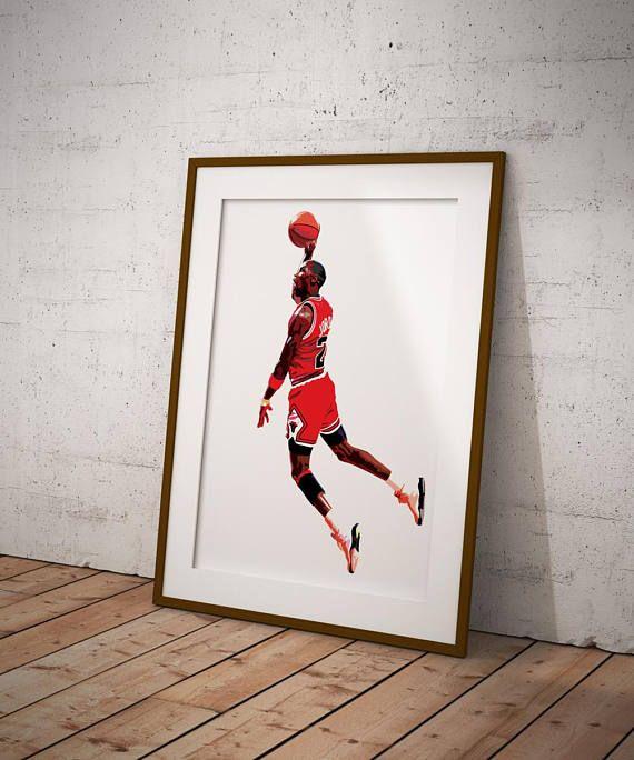michael jordan vector illustration print graphic gaff artwork