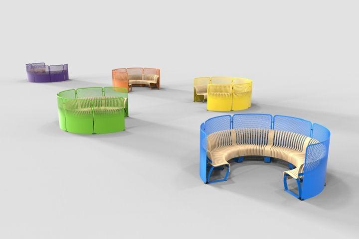 Nova C Back benches for Stockholmsmässan by Green Furniture Concept Stockholm  Sweden