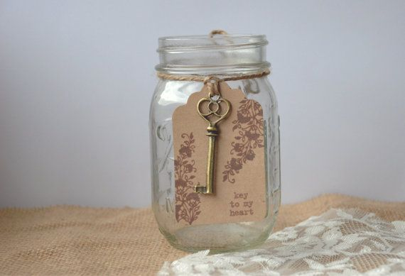Key To My Heart Rustic Wedding Favors By