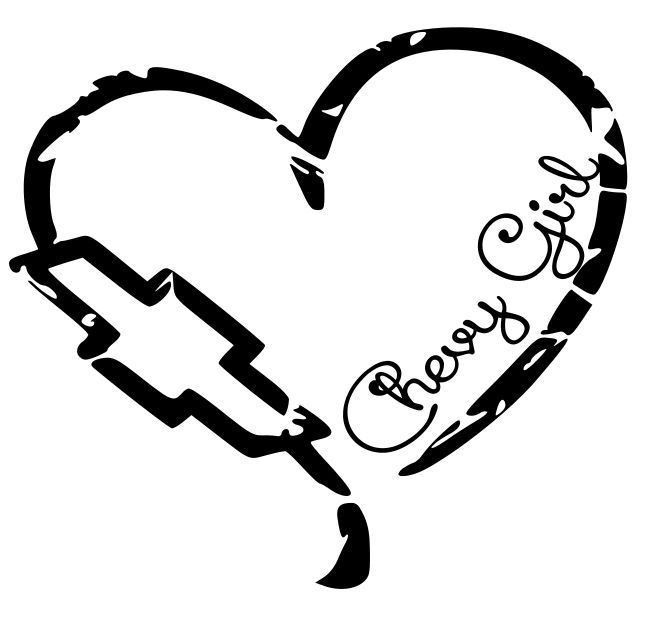 Chevy Girl Heart Decal Sticker Pickup Truck Lifted Chick Mud - Chevy decals for trucks