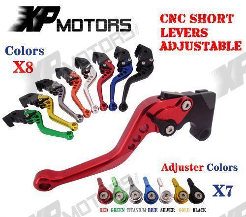 CNC Short Aluminum Adjustable Brake Clutch Levers For Suzuki GSXR1000 2007-2008