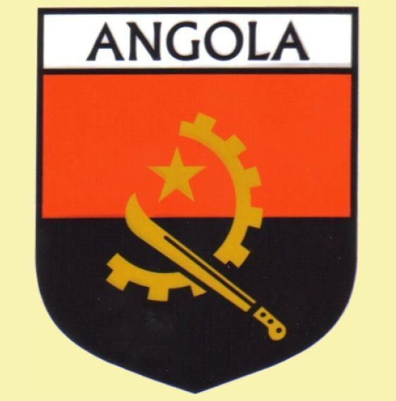 For everything genealogy angola flag country flag angola decals stickers set of 3 15 00