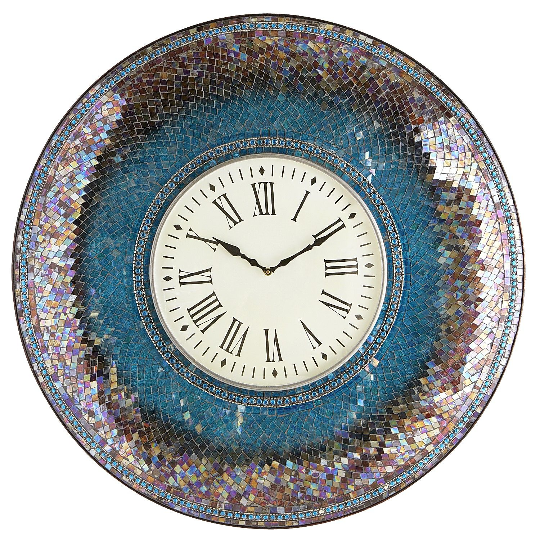 oversize midnight 30 mosaic wall clock mosaic wall on wall clocks id=11263