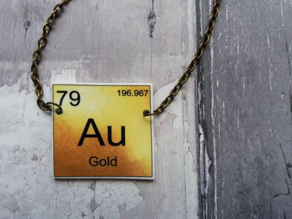 Periodic table necklace gold symbol au pendant bronze effect periodic table necklace gold symbol au pendant bronze effect urtaz