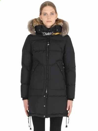 PARAJUMPERS LONG BEAR NYLON DOWN PARKA W/ FUR. #parajumpers #cloth #down jackets