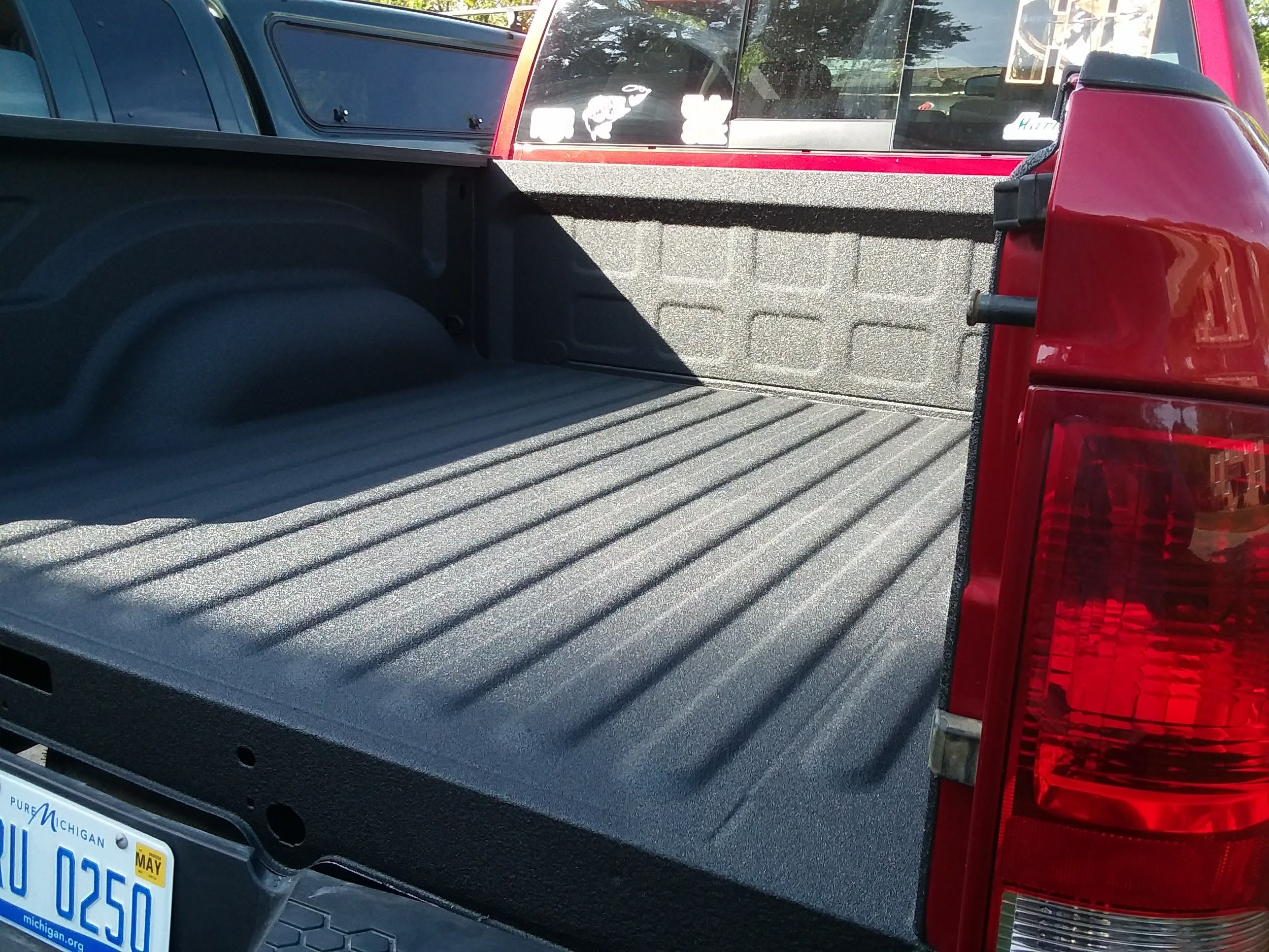 Quality Bullet spray in bedliner by Quality Coatings of