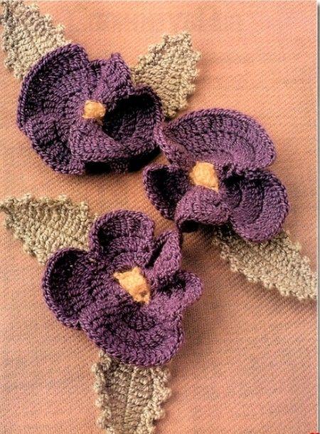 Fleurs colorées et leurs grilles gratuites , au Crochet ...