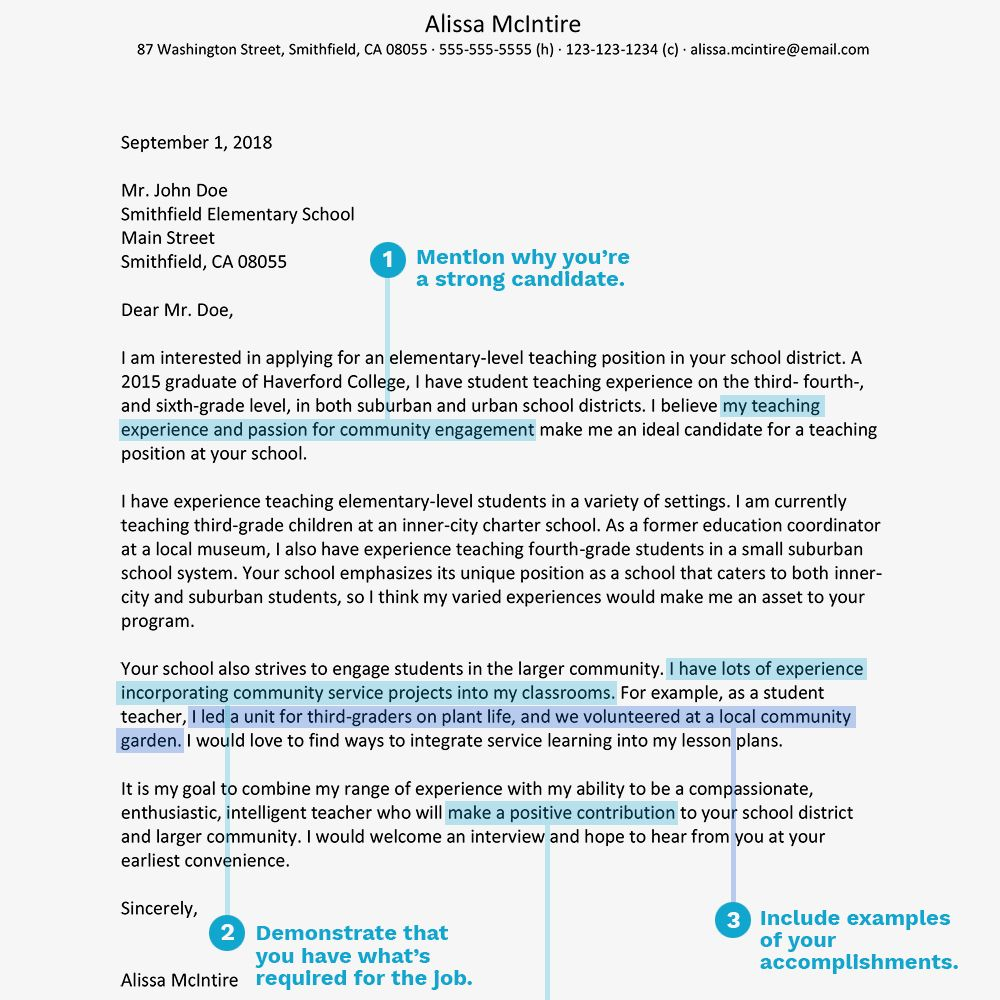 30+ Cover Letter Templates Teacher cover letter example