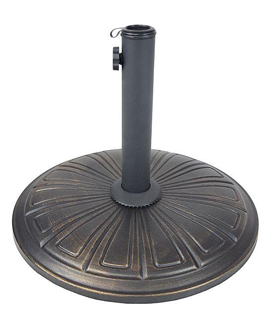Antique Black Medium Concrete Umbrella Stand Umbrella Stand Oakland Living Patio Umbrella Stand