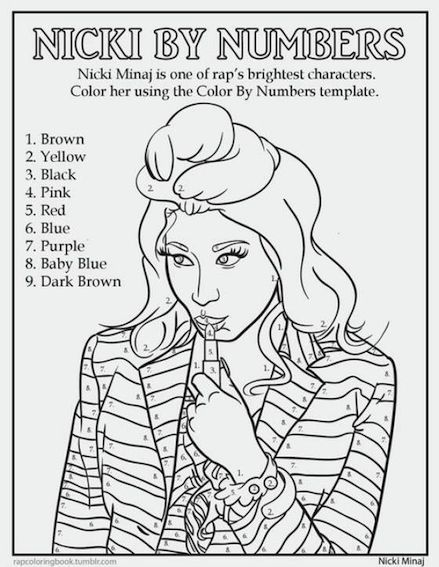 find this pin and more on people coloring pages for adults by sarah9013 nicki minaj