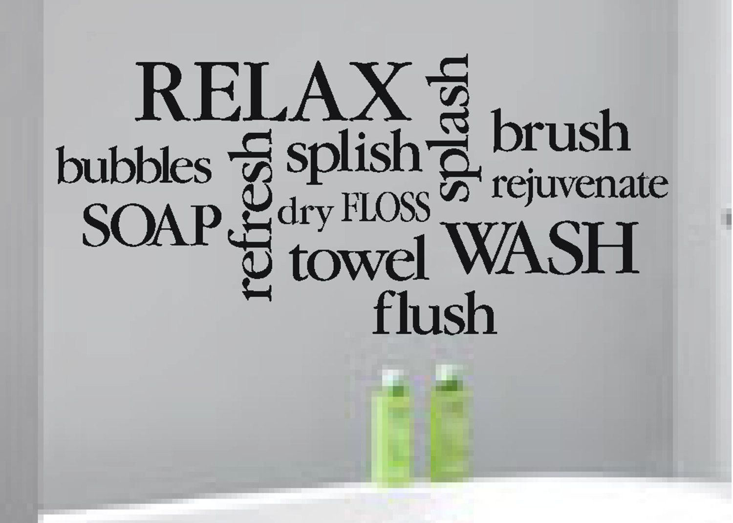 Wall decal bathroom decor sign bathroom subway art bathroom